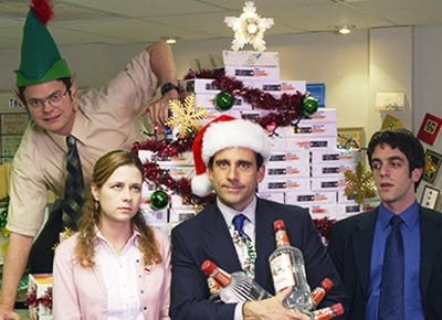 photo of the office christmas party actors