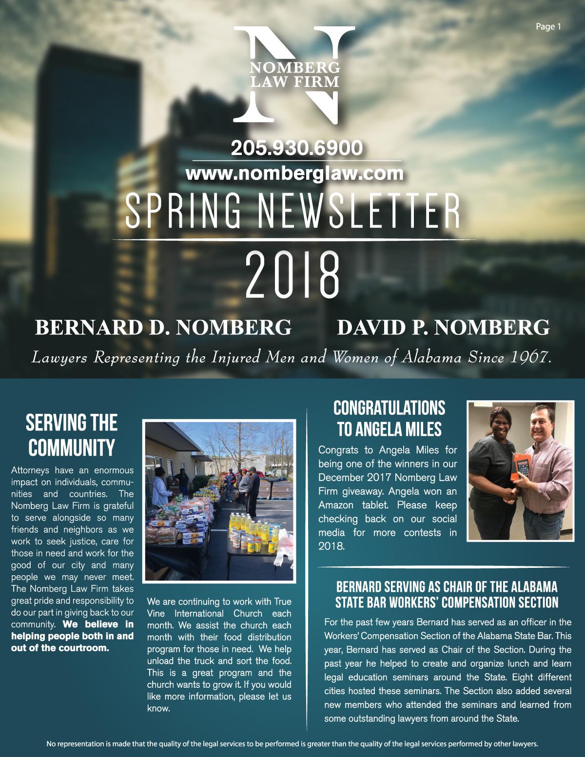 newsletter spring 2018 1