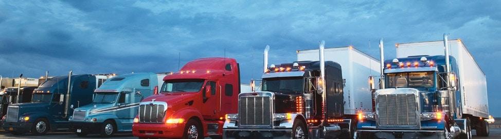 photo of big rig trucks